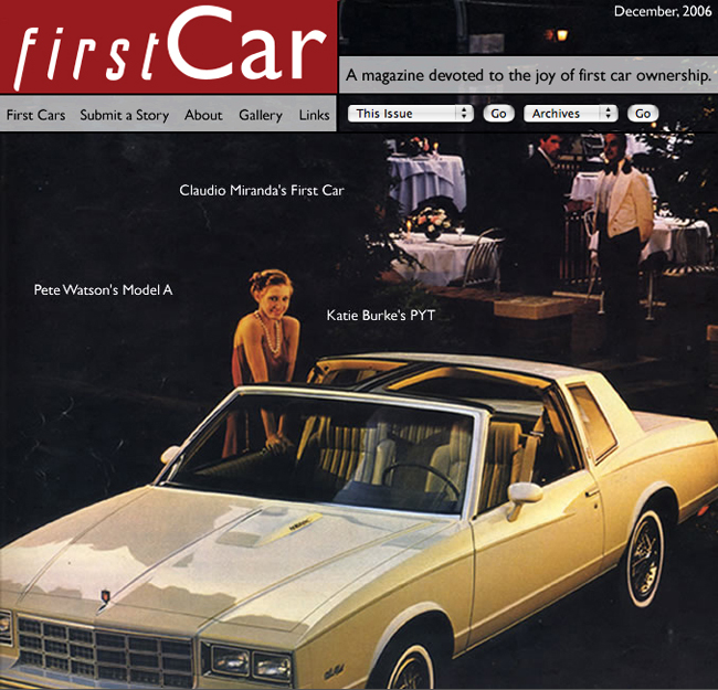 First Car Magazine - December 2006 Cover