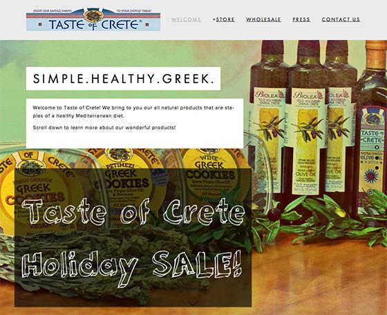 Taste of Crete website